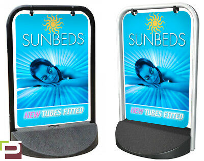 Sunbeds New Tubes PAVEMENT SIGN Swinger, ADVERTISING, A-Board, Hair, Beauty
