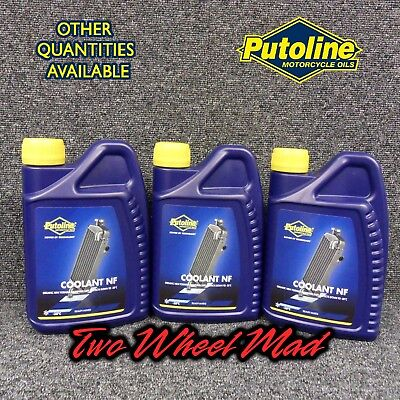 Putoline Coolant NF 3 x 1L bottles - Ready mixed formula Protects down to -38°C