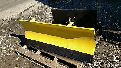 John Deere Tractor Quick Hitch Attach Skid Steer Snow Plow  Power Angle 5'