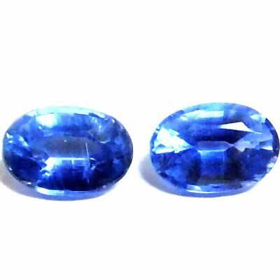 NATURAL ATTRACTIVE  BLUE KYANITE LOOSE GEMSTONE (PAIR / 6 x 4 mm) OVAL SHAPE