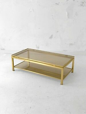 1970 Jansen Guy Lefebvre Table Basse Moderniste Bauhaus Shabby-Chic