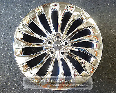 Genesis G90 19 Inch Chrome Wheel Exchange Oem Staggered Rims Hyundai Mobis