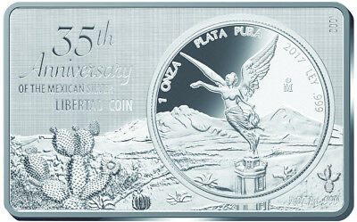 35TH ANNIVERSARY OF THE LIBERTAD - 2017 1 oz Pure Silver & 2 oz Pure Silver Bar