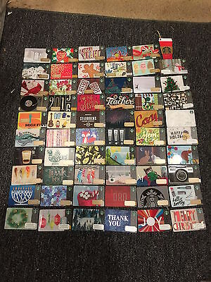 60 Starbucks 2015 USA Christmas Holiday  Limited Edition Gift Cards IN HAND