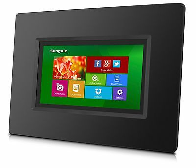"""Sungale CPF716 7"""" Smart Wi-Fi Cloud Digital Photo Frame with touch screen."""