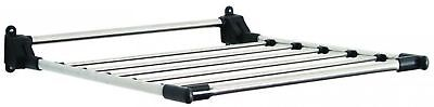 Drying Laundry Rack Wall-Mounted Folds Flat Stainless Steel Adjustable Heights