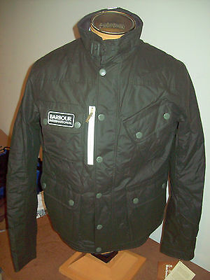 Barbour International Manx Isulated Moto Jacket NWT Large $399 Olive Green