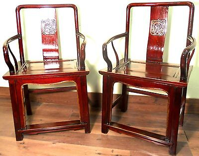 Antique Chinese Ming Arm Chairs (5756), Circa 1800-1849