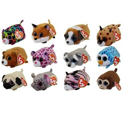 "TY Beanie Boos - Teeny Tys Stackable Plush - SET OF 12 (4"") - with Heart Tags"