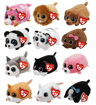 2017 TY Beanie Boos SET OF 12 Teeny Tys Stackable Plush New with Ty Heart Tags
