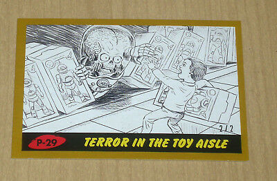 2017 Topps MARS ATTACKS Revenge GOLD parallel pencil art P-29 2/2
