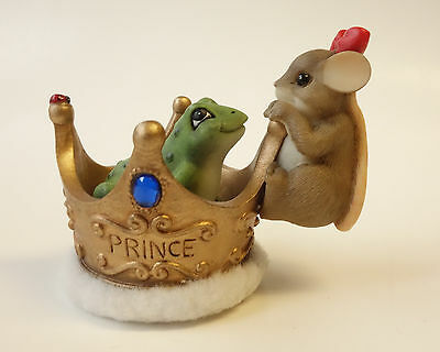 Fitz & Floyd CHARMING TAILS Mouse Figurine IT ONLY TAKES ONE KISS 84/156 Frog