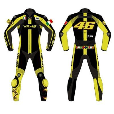 Valentino Rossi Vr46  Moto Gp Leather Suit Cowhide Racing Motorcycle Motorbike