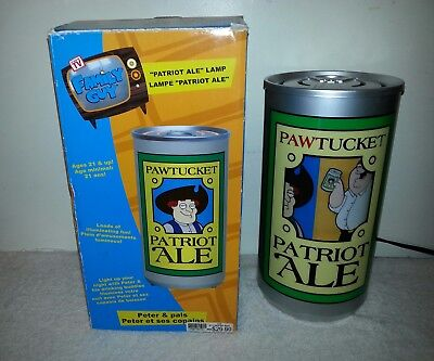 Family Guy Patriot Ale Lamp light up revolving novelty beer can Peter & Pals
