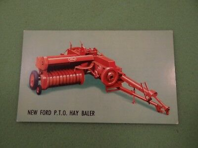 Original 1950's Ford Hay Baler Advertising Postcard