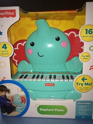 """NEW!!!! Fisher Price Music Elephant Piano """"Most Popular"""""""