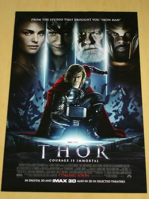 THOR - Original DS Movie Poster 1sheet - D/S 27x40 INTL - MARVEL Chris Hemsworth