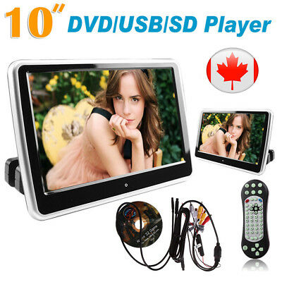 "CA 10"" HDMI Car DVD Player Digital LCD Screen Headrest Monitor USB SD IR/FM Game"