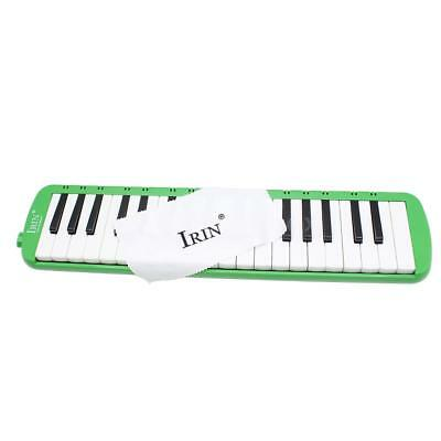 37 Piano Keys Melodica Pianica Musical Instrument w/ Bag for Students Green X9S0