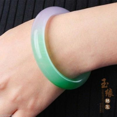 Exquisite Chinese natural green jade hand carved Ms jewelry jade bangle bracelet