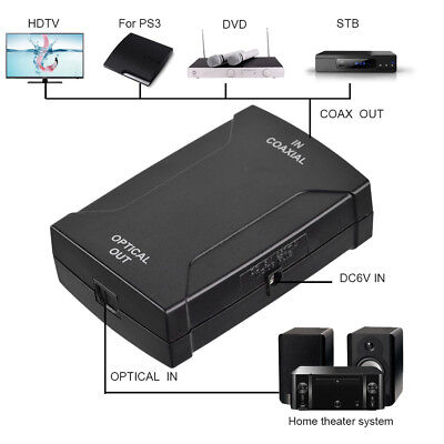 96kHz Optical TOS SPDIF TOSlink to Coax Coaxial Converter Adapter S/PDIF Theater
