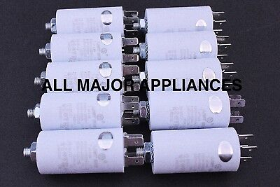 10 x 7uF RUN CAPACITOR PLASTIC 400/450/500V LONG LIFE SUIT F&P ED56 AD55