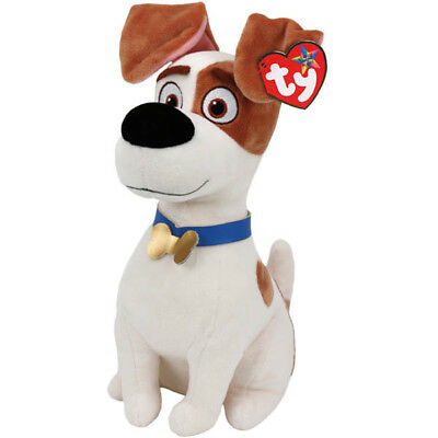 """TY Beanie Baby Plush 11"""" MAX the Jack Russell Terrier (Secret Life of Pets)"""