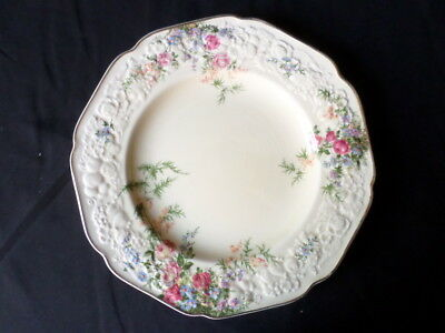 Crown Ducal. Florentine. Rosalie. Dinner Plate (A/F). Made In England.