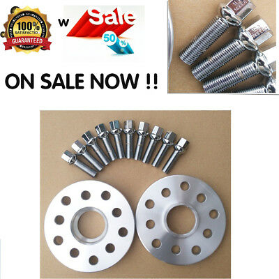 4 X 15mm Hubcentric Alloy Wheel Spacers for BMW+20 Bolts E60 E61 E90 Vehicle Car