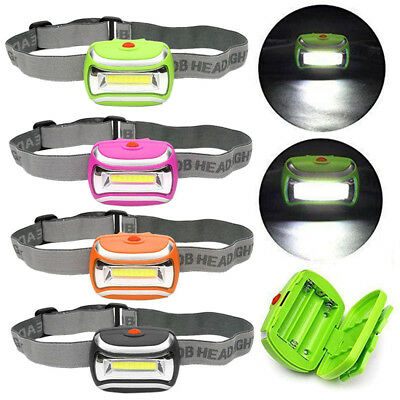 Waterproof 600LM COB Headlight 3W LED Light Outdoor Cycling Camping Head Lamp