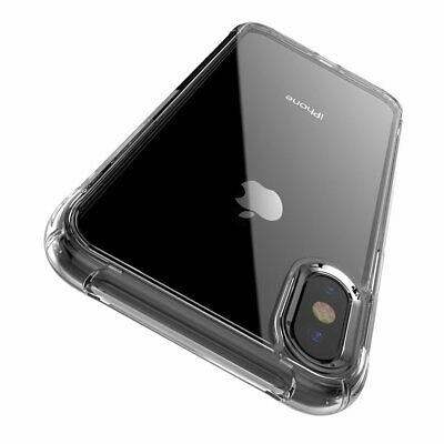 Shockproof Bumper Clear Transparent TPU Soft Case Cover for iPhone X  8 Plus 7