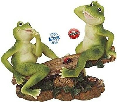 Chen Imports 2Frogs on Seesaw Garden Decoration Collectible Figurine Statue Modl