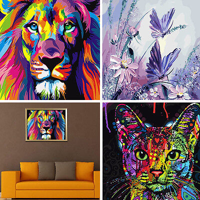 DIY Digital Oil Painting Kit Canvas Paint Fashionable Wall Decoration Colorful