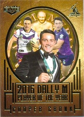 2017 ESP NRL ELITE Album card 2016 Dally M Player of the year - Cooper Cronk