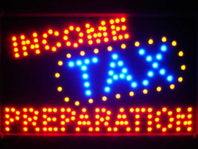 led082-r Income Tax Preparation Led Neon Sign
