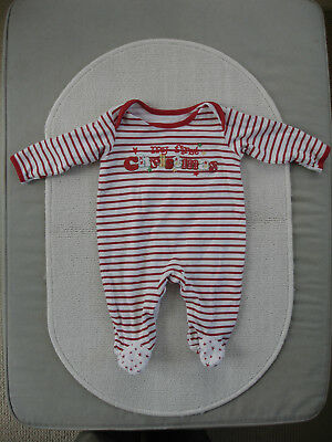Baby Girls Christmas Babygrow age 0-3 months- George