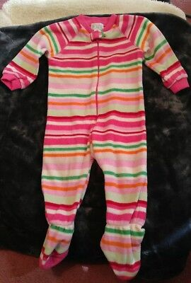The Children's Place girls striped footed pajamas size 12 months