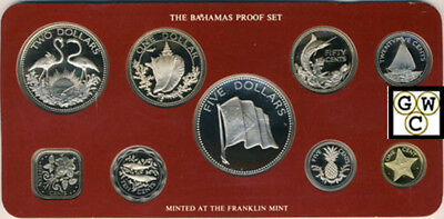 1976 Commonwealth of the Bahamas 9 Coins Proof Set