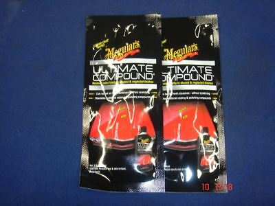 2 x Meguiars Ultimate Compound Polish 1oz Sachet