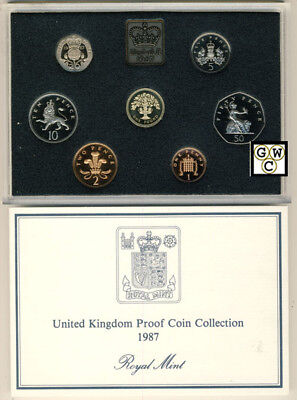 1987 United Kingdom Proof 7 Coins Collection Set