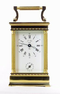 "Top Quality French L'epee ""la Marquise"" Alarm Carriage Clock Excellent, Serviced"