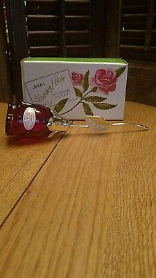 Vintage Avon Courting Rose Decanter, Empty with Box