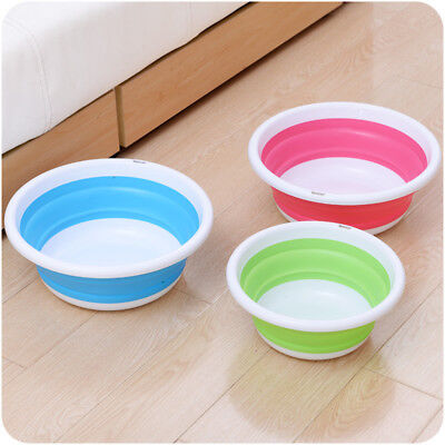 Outdoor Camping Travel Folding Wash Basin Kitchen Plastic Collapsible Dish Tub