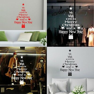 Happy New Year Removable Wall Stickers Decal Christmas Party Decor Home Window