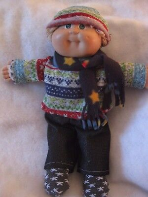 CPK doll clothes/16-18/winter sweater/matching hat/denim pants/scarf