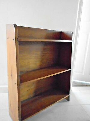 30s 40s DECO VINTAGE PINE FREE STANDING BOOK SHELVES BOOKCASE