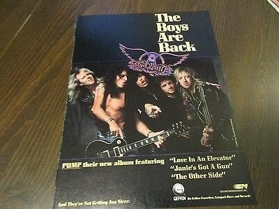 Aerosmith - Pump - The Boys Are Back 1980's Magazine Print Ad