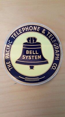 Vintage Pacific Telephone & Telegraph Bell System Decal