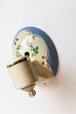 vintage porcelain floral wall sconce with sockets