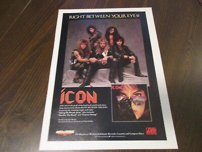 Icon - Right Between The Eyes  1980's Magazine Print Ad